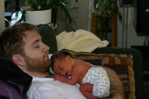 Anthony and 2 Day Old Aidan