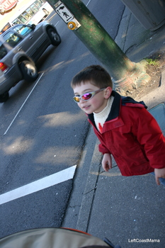 Aidan on our walk.