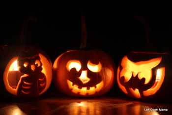 I like the way the three pumpkins are so different, yet they go well together.