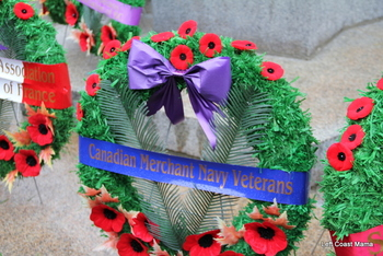 Wreaths at the victory Square Cenotaph