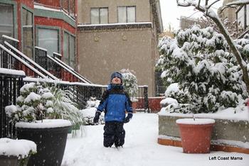 Aidan loving the snow.