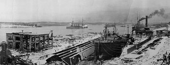 Aftermath from the Halifax Explosion Overlooking the Waterfront