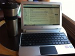 Computer at Starbucks