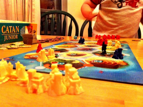 Playing Catan Junior