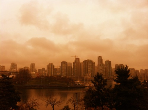 Downtown Vancouver, Colour Filter, Pixlr-omatic