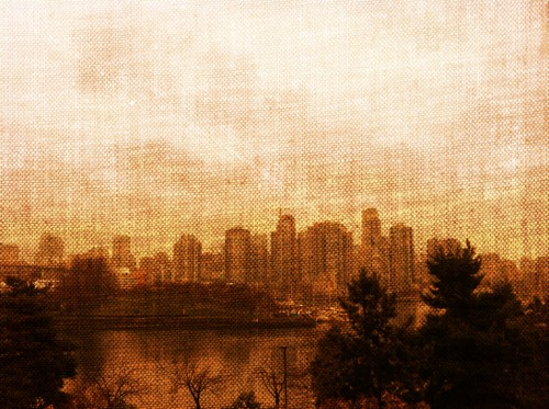 Downtown Vancouver,  Camera+, iPhone 4, Colour Filter through Pixlromatic